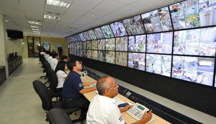 Sala Controle de Monitoramento por Video